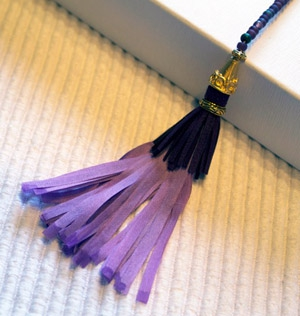 Tassels using Planet Earth Ribbon