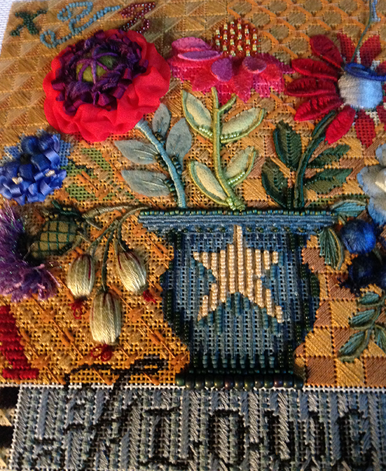 Stumpwork Flower Sampler