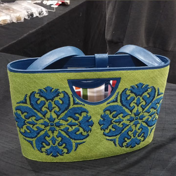 Purse stitched by Hingham Square Needlepoint