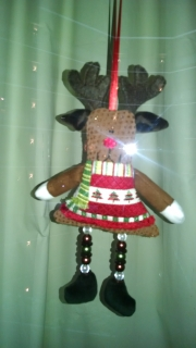 moose ornament with bead legs
