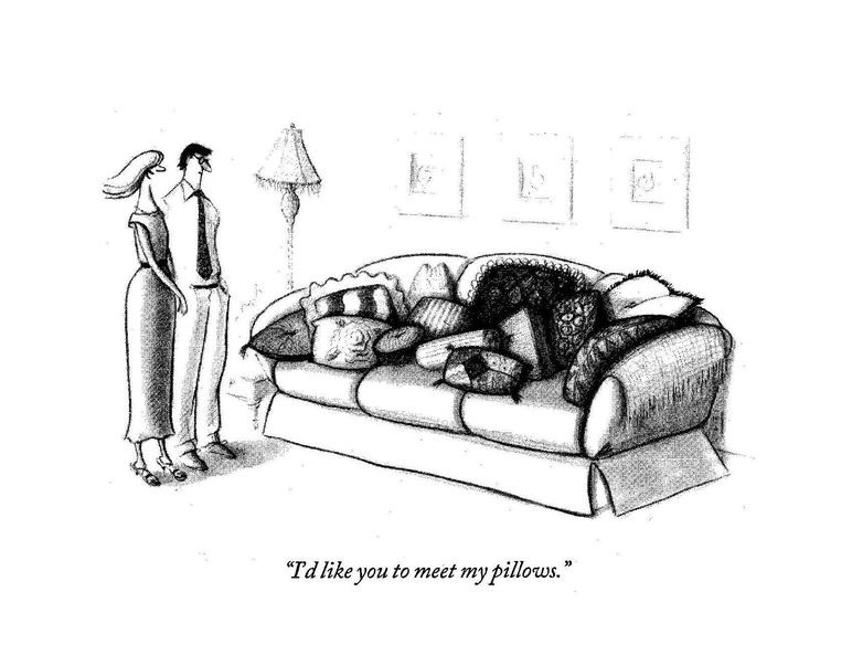 I would like you to meet my pillows.
