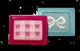Pink and Aqua Credit Card Holders