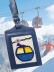 Skiing Luggage Tag