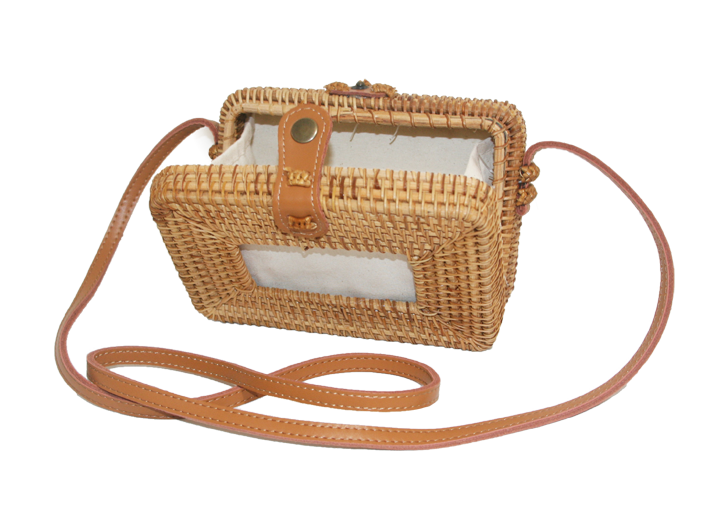 Rattan Rectangle Bag Natural