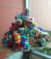 Yarn sculpture at the Barnstable Airport